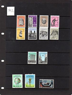 Useful selection of stamps from Yemen. Lot YA1