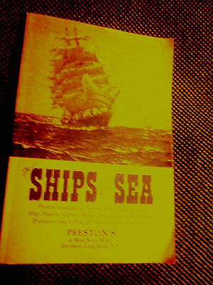 """""""of ships & sea"""" by preston, original old catalog from his store,all nautical"""