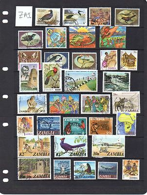 Useful selection of stamps from Zambia. Lot ZA1