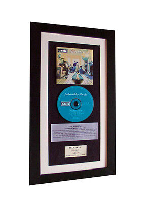 OASIS Definitely Maybe CLASSIC CD Album GALLERY QUALITY FRAMED+FAST GLOBAL SHIP
