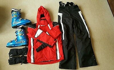 Ski Jacket, Trousers, Ski Boots and Gloves