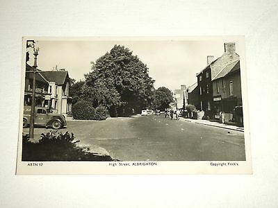 Vintage Real Photo Postcard of High Street, Albrighton Shropshire C.1950's