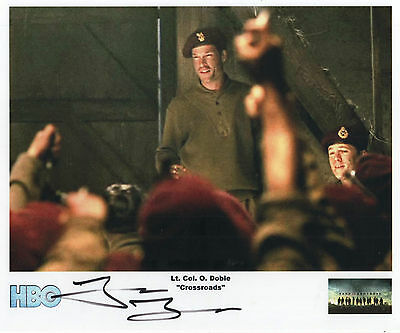 "Band of Brothers Auto Photo Print John Light ""Lt. Col. O. Dobie"""