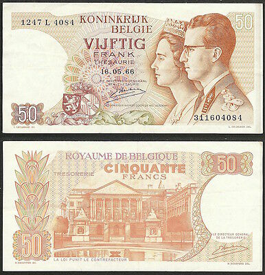 BELGIUM - 50 francs 1966 P# 139 Europe banknote - Edelweiss Coins
