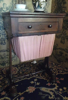 Antique Victorian Rosewood Sewing Table