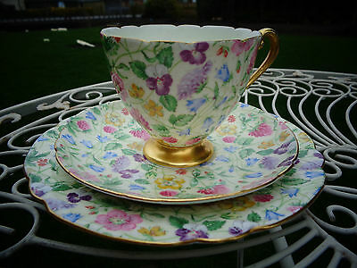 Shelley Countryside Chintz Trio - Cup & Saucer, Side Plate