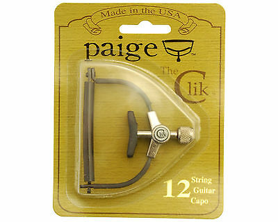 Paige The Clik 12 String Acoustic Guitar Capo in Black PC-12 MADE IN USA NEW!