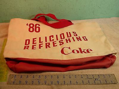 1986  Coca Cola Large Oversized Canvas Tote with Zipper closure, and wristlet