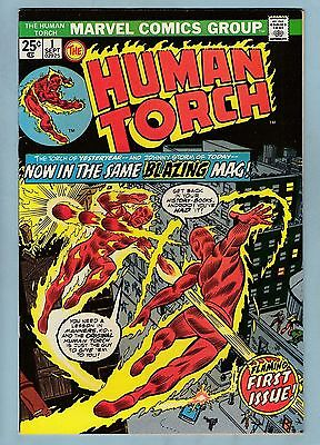 Human Torch # 1 Vfn+ (8.5) Glossy High Grade- Marvel- 1974- Cents- 50% Off Guide