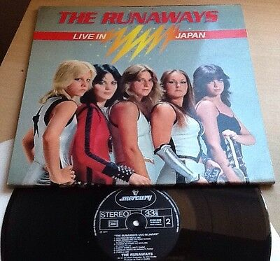 "THE RUNAWAYS - Live in Japan - Gatefold - Vinyl 12"" LP - French Copy"