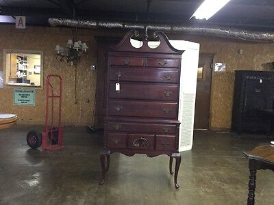 Mahogany queen Anne tall boy chest very nice