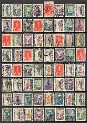 """GREECE 1927-35 - """"Landscapes"""" - Collection 128 stamps"""