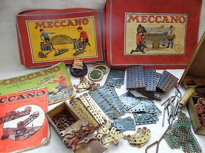 Collection Of Vintage French Miniature Meccano -2 Boxes And Instruction Books