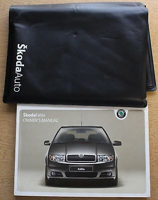 Skoda Fabia Handbook Wallet Manual 2004-2007 Pack 12762