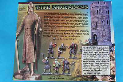 CONTE' COLLECTION -  Dark Ages THE NORMANS - 8 Plastic Figure Set WITH BOX RARE