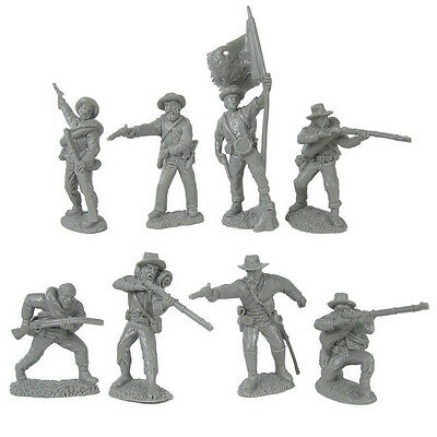 Tssd 1/32 - American Civil War Confederate Inf. 8 Pose Figures (Gray) - Limited