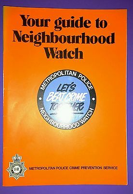 Neighbourhood Watch booklet. Metropolitan Police Crime Prevention Service 1983