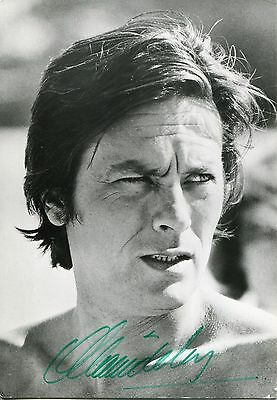 Autographe ORIGINAL de ALAIN DELON sur photo format 11x15
