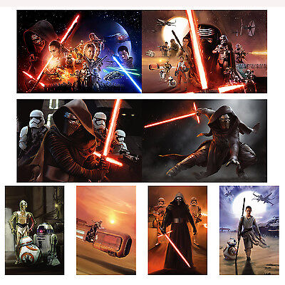 Star Wars The Force Awakens Promo 6X4 Photo Set 1 Daisy Ridley Harrison Ford