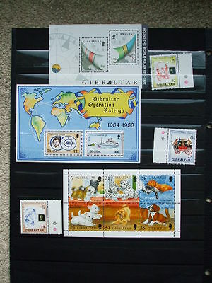 A Collection Of Mint Stamps From Gibraltar