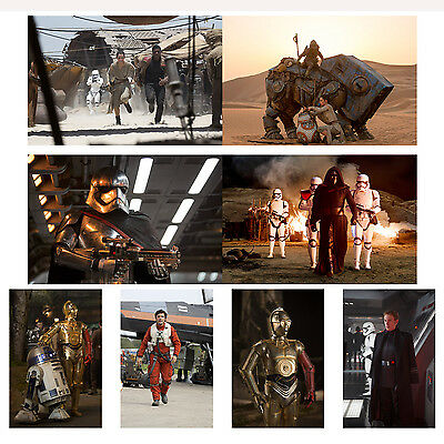 Star Wars The Force Awakens Promo 6X4 Photo Set 2 Daisy Ridley Harrison Ford