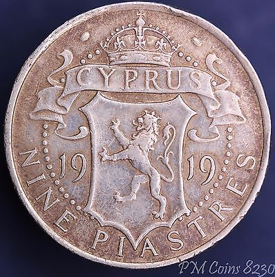 1919 Cyprus Nine Piastres coin [8230]