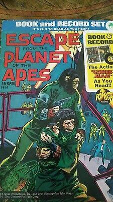 Escape From The Planet Of The Apes Book And Record Set Power Records    Rare
