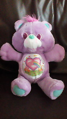 "Vintage Rare  Mint 1991 Kenner 13"" Care Bear Environmental Share Bear"