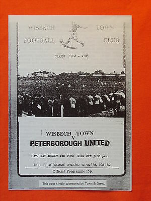 Wisbech Town v Peterborough United, Friendly  4th August 1984