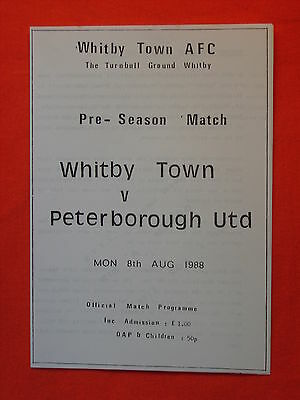 Whitby Town AFC v Peterborough United, Friendly  8th August 1988