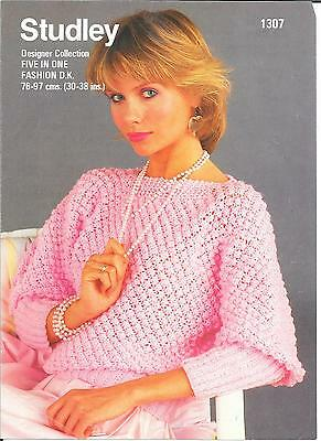 Vintage Studley Knitting Pattern For A Ladies Jumper