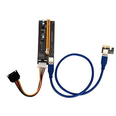 NEW PCI-E Express Powered Riser Card W/ USB 3.0 extender Cable 1x to 16x Monero