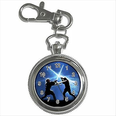 NEW* HOT STAR WARS FIGHT Silver Color Tone Key Chain Ring Watch Gift