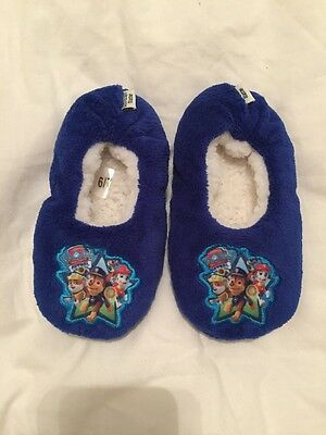 Paw Patrol Slippers Size Infant 6-7 New