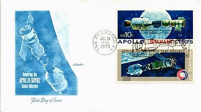 Dr Jim Stamps Us Apollo Soyuz Space Event Naval Recovery Cover San Francisco