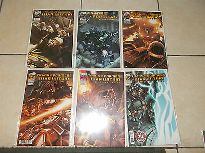Dreamwave Transformers - War Within Dark Ages Complete Set Issues #1-6