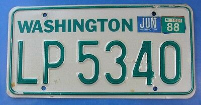 1988 Washington Truck License Plate Lf8490                                Ul3819