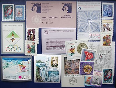 POLAND - 1960 - 1972 Collection of MNH Bloks & Stamps