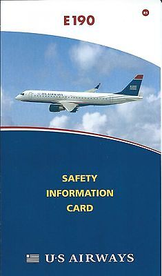 Safety Card - US Airways - E190 - 2008 (S3695)