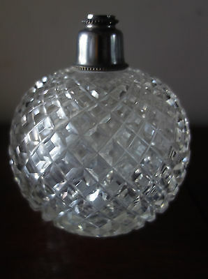victorian hob nail cut glass scent bottle
