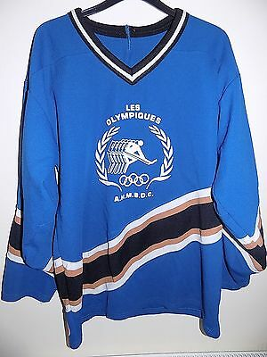 classic ice hockey shirt les olympiques  boudreau 94