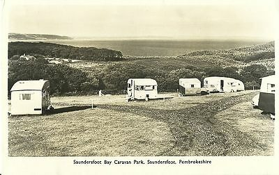 Saundersfoot Bay Caravan Park Saundersfoot C1960 Real Photo Postcard