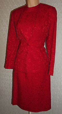 Pretty Ladies Elegant Party Cocktail Red Dress And Jacket Suit Size 8/10?