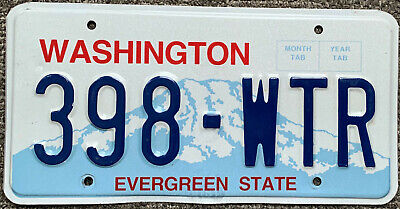 👌🚨🚨☀ AUTHENTIC USA  WASHINGTON 2010's LICENSE PLATE.   ★•☆•★▄▀▄▀▄█▓