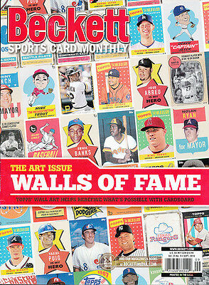 Beckett Sports Card Monthly Price Guide September 2014 Art Issue Walls Of Fame