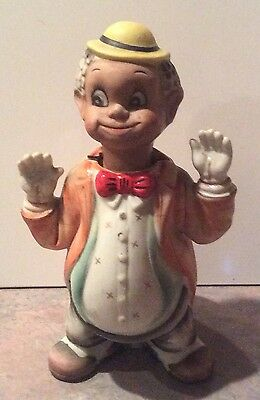 "Vintage Ardalt Black Americana Boy Bobble Head / Nodder 6"" Tall 6530 A"