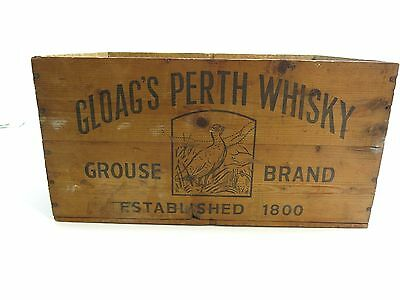 Vintage / Original Gloag's Perth Whiskey Scotland Wooden Shipping Crate