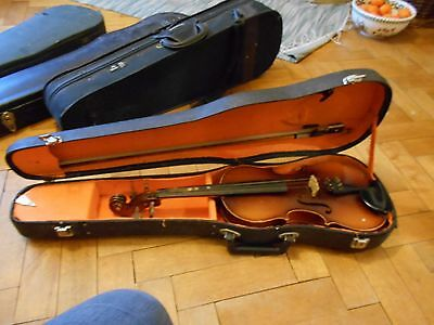 3/4 Violin from Churchills, Bristol with hard case