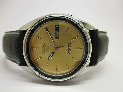 Authentic Vintage Seiko 5 Automatic Japan Made Movement Day & Date Wrist Watch