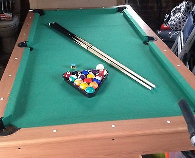 POOL TABLE   -  6 Foot with balls, cues, triangle and chalk